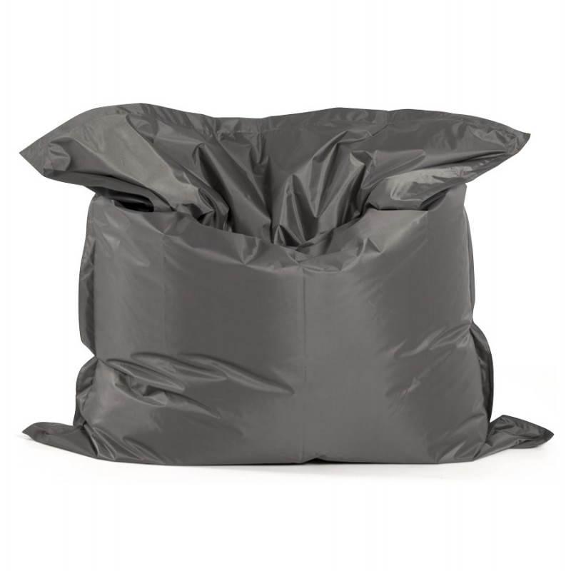 Puff rectangular MILLOT textile (dark grey) - image 21283