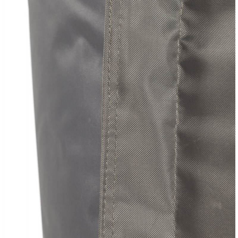 Puff rectangular MILLOT textile (dark grey) - image 21289