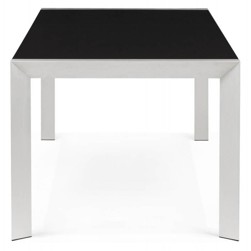 Table design avec 2 rallonges MACY en bois peint (noir) - image 21319