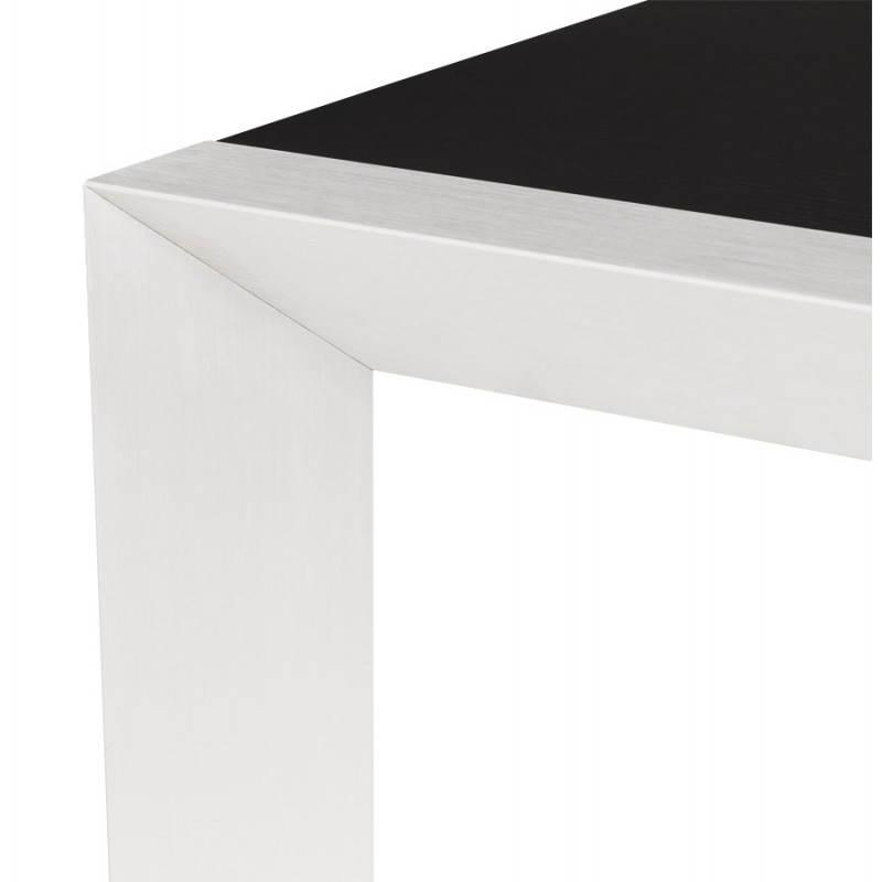Table design avec 2 rallonges MACY en bois peint (noir) - image 21321
