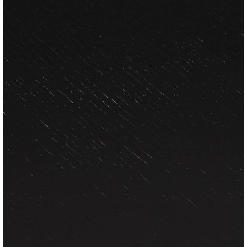 Table design avec 2 rallonges MACY en bois peint (noir) - image 21322
