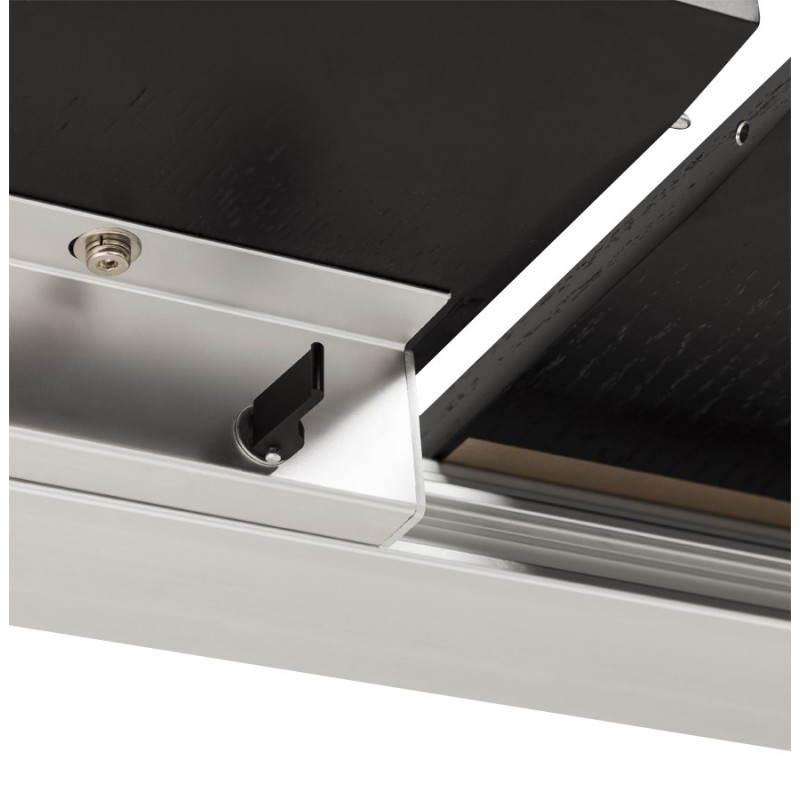 Table design avec 2 rallonges MACY en bois peint (noir) - image 21324
