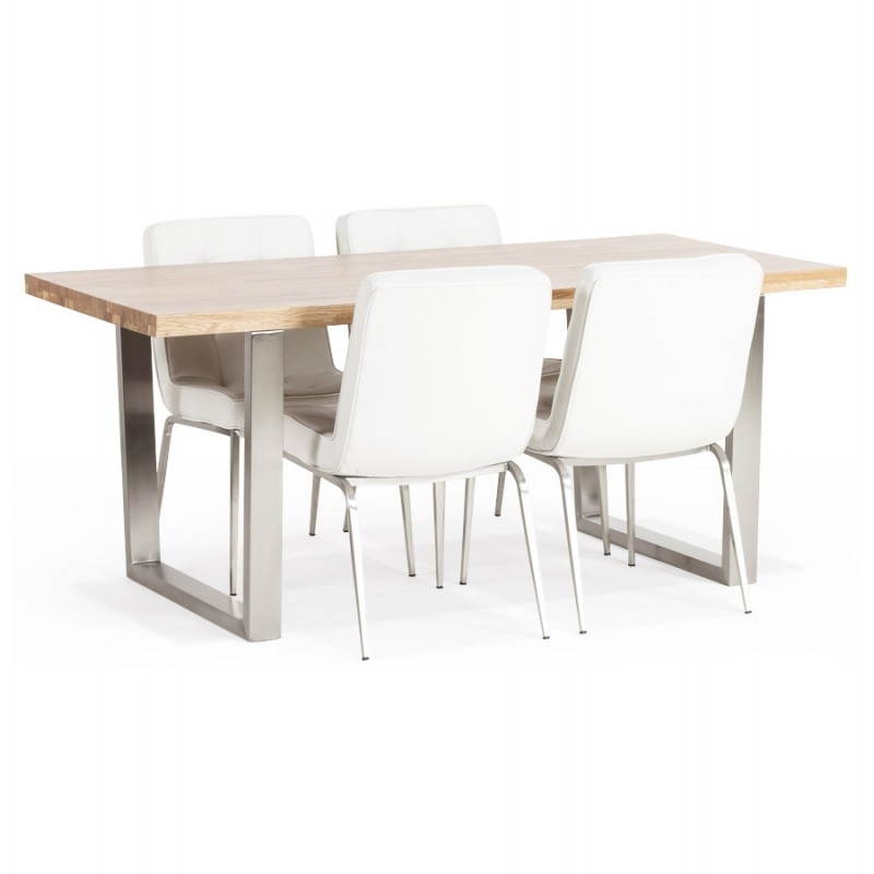 Table moderne rectangulaire panou en ch ne massif - Table chene massif moderne ...