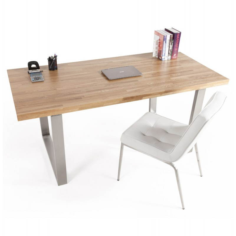 Table bois massif moderne for Table bois chene massif