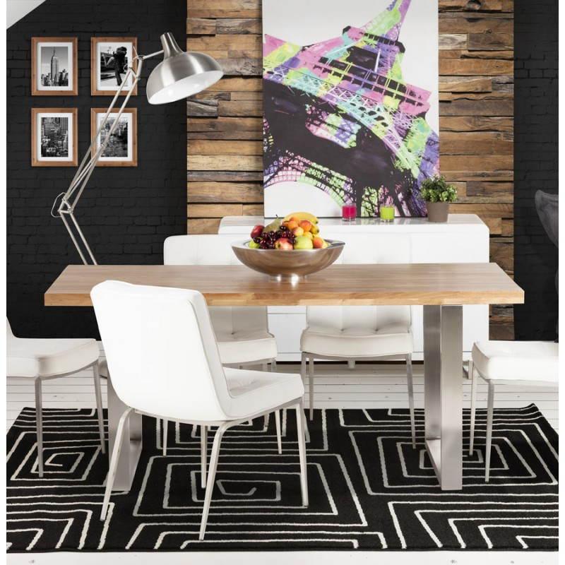 Table moderne rectangulaire PANOU en chêne massif (bois naturel) - image 21351
