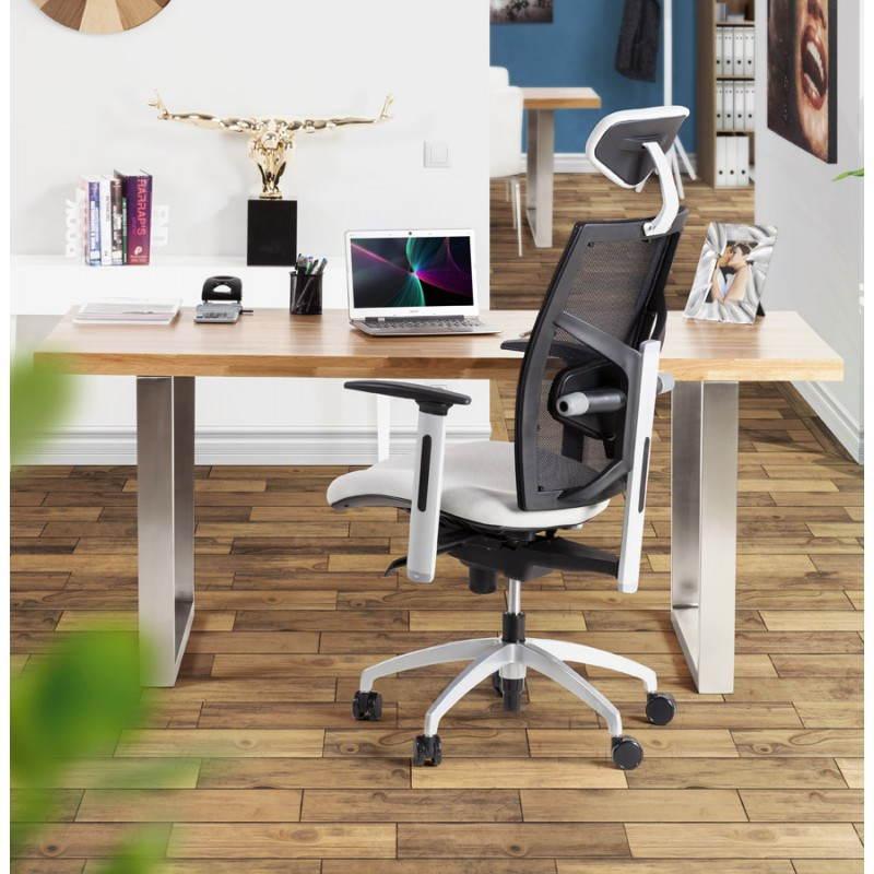 Table moderne rectangulaire PANOU en chêne massif (bois naturel) - image 21353