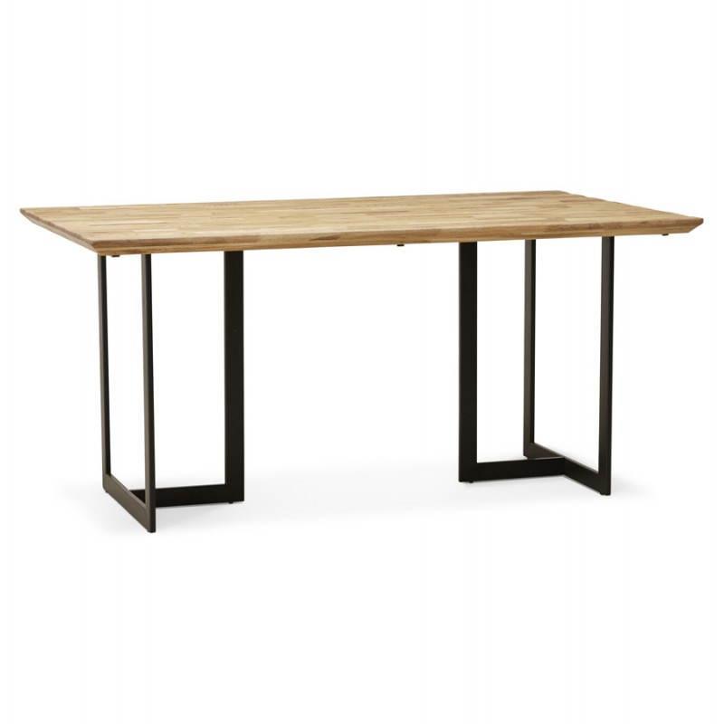 Table moderne rectangulaire NANOU en chêne (bois naturel) - image 21354