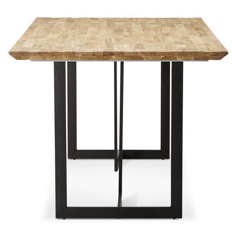 Table moderne rectangulaire NANOU en chêne (bois naturel) - image 21357