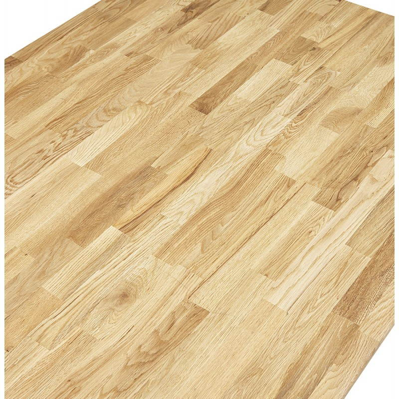 Table moderne rectangulaire NANOU en chêne (bois naturel) - image 21360