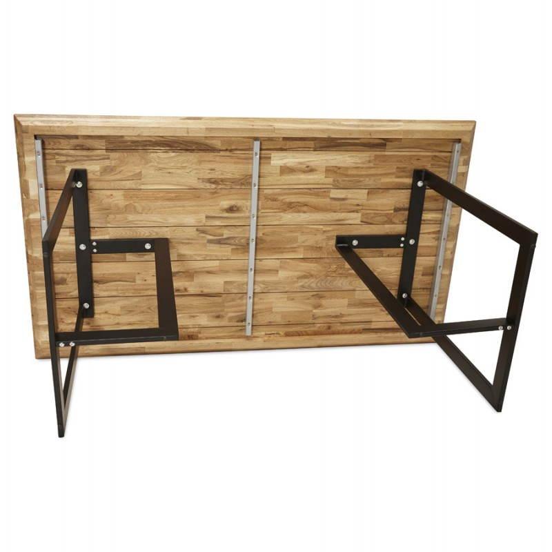 Table moderne rectangulaire NANOU en chêne (bois naturel) - image 21364