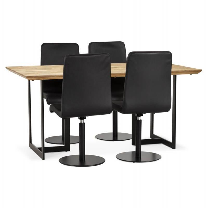 Table moderne rectangulaire NANOU en chêne (bois naturel) - image 21365