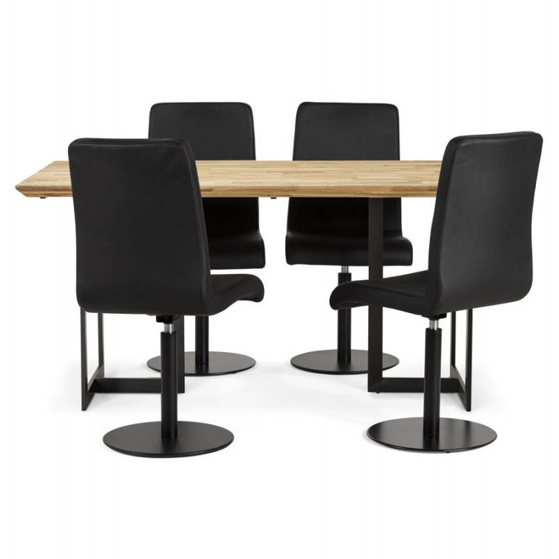 table moderne rectangulaire nanou en ch ne 160cmx90cmx75cm bois naturel. Black Bedroom Furniture Sets. Home Design Ideas