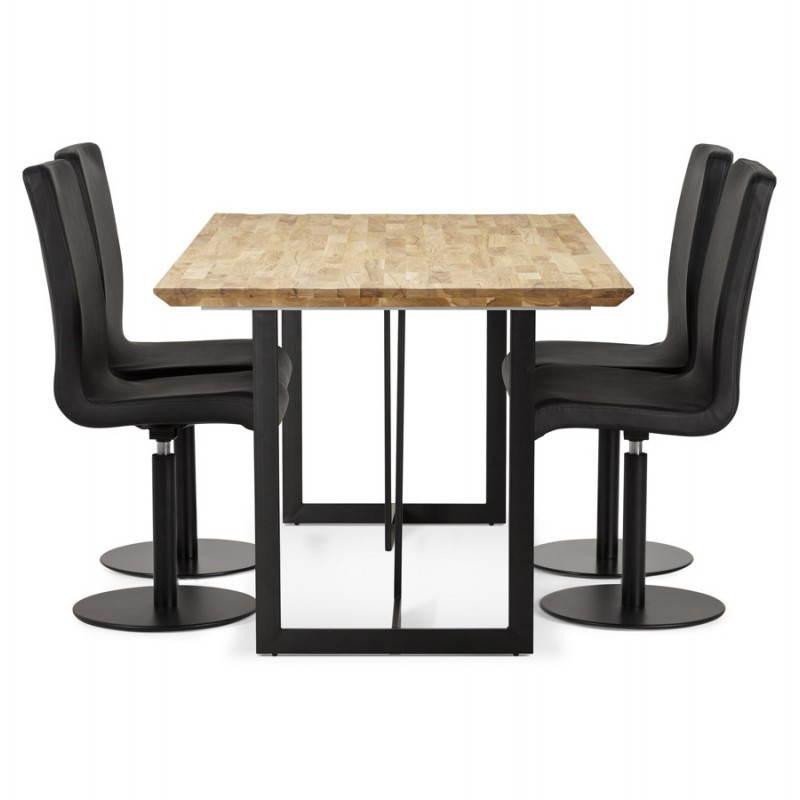 Table moderne rectangulaire NANOU en chêne (bois naturel) - image 21367