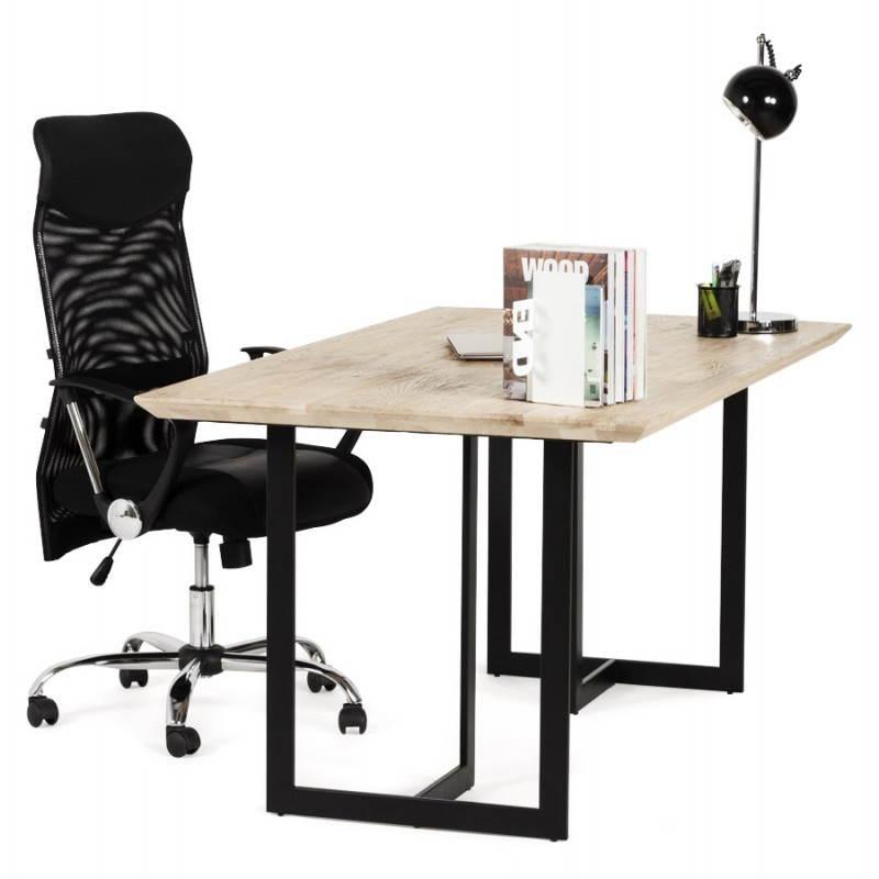 Table moderne rectangulaire NANOU en chêne (bois naturel) - image 21372
