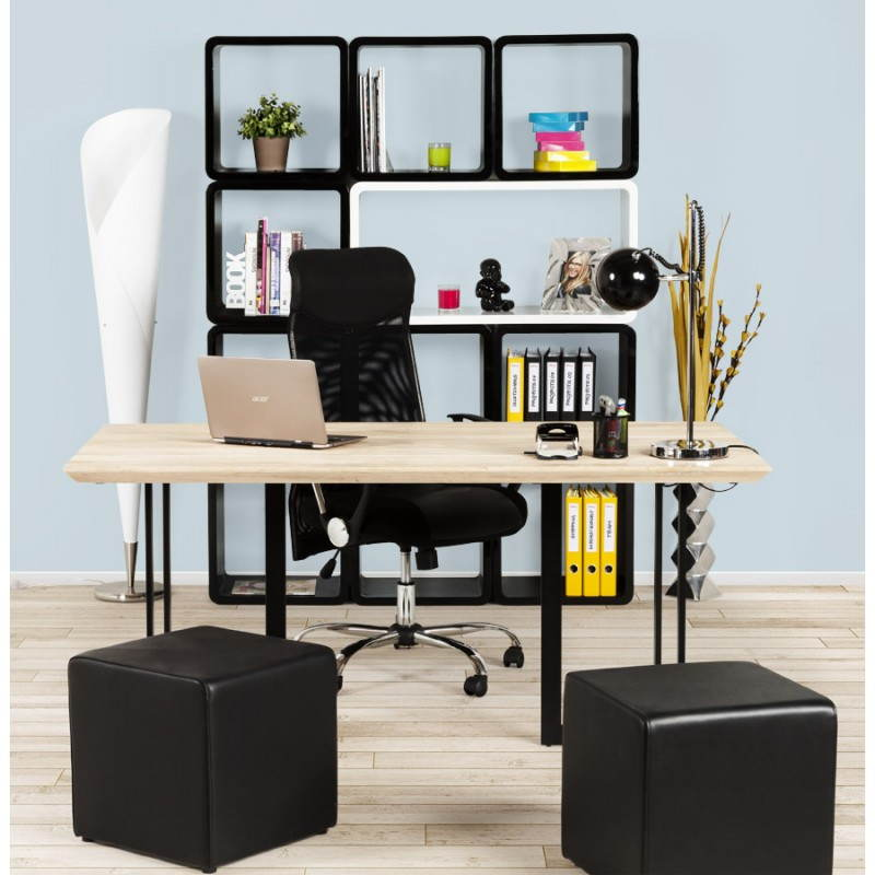 Table moderne rectangulaire NANOU en chêne (bois naturel) - image 21375