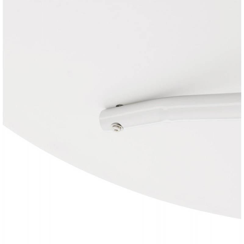 Table moderne ronde MINOU en bois peint et métal (Ø 100 cm) (blanc) - image 21383