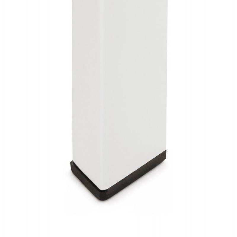 Table design rectangulaire avec rallonge JEANNE en verre et métal (160/230cmX90cmX75cm) (blanc) - image 21400
