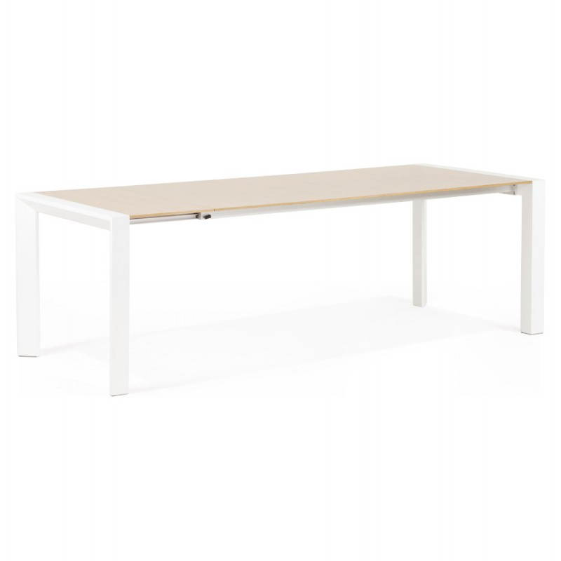 Rectangular design table with extensions SOLO veneered oak and metal (natural wood) - image 21415