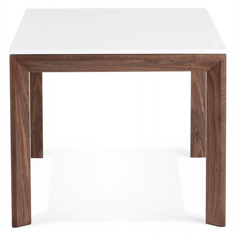 Table design rectangulaire avec rallonge LOULOU en bois (150/200cmX90cmX75cm) (blanc) - image 21439
