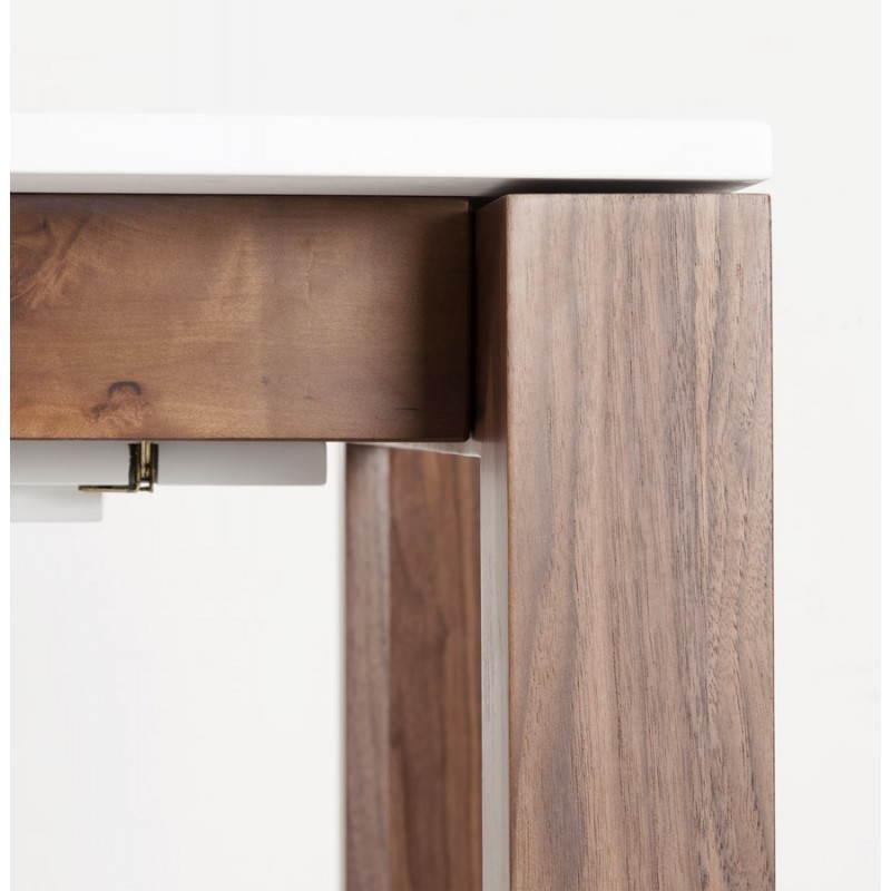 Table design rectangulaire avec rallonge LOULOU en bois (150/200cmX90cmX75cm) (blanc) - image 21444