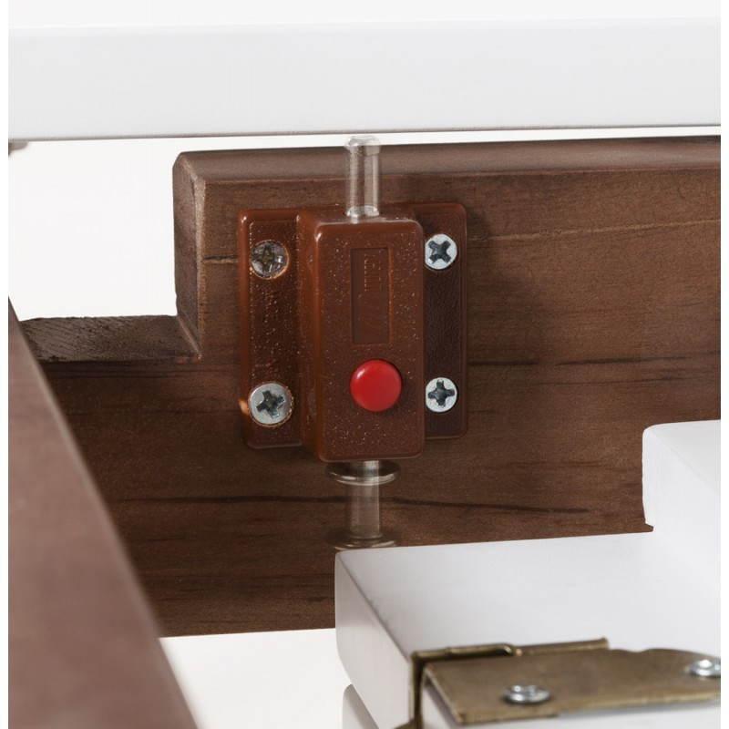 Table design rectangulaire avec rallonge LOULOU en bois (150/200cmX90cmX75cm) (blanc) - image 21448