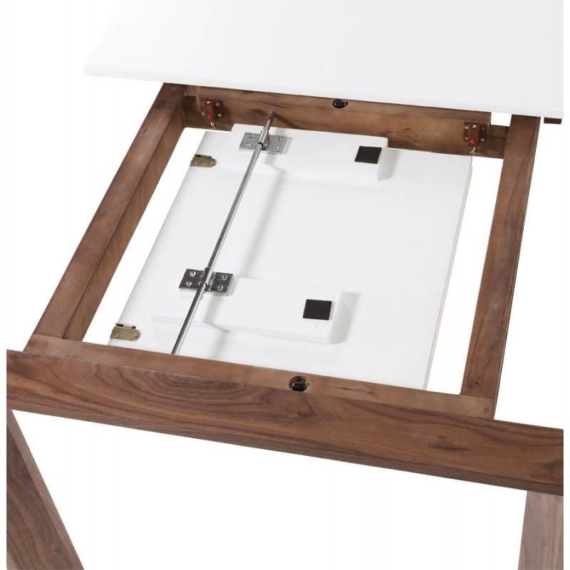 Table design rectangulaire avec rallonge LOULOU en bois (150/200cmX90cmX75cm) (blanc) - image 21449