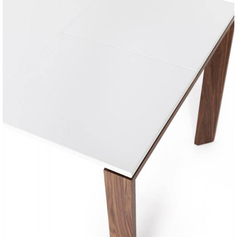Table design rectangulaire avec rallonge LOULOU en bois (150/200cmX90cmX75cm) (blanc) - image 21451