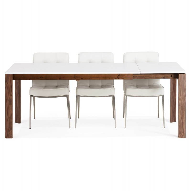 Table design rectangulaire avec rallonge loulou en bois - Table design avec rallonge ...