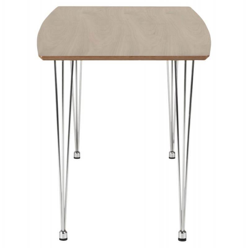 Table design rectangulaire SOPHIE en bois (140cmX70cmX72cm) (noyer) - image 21470