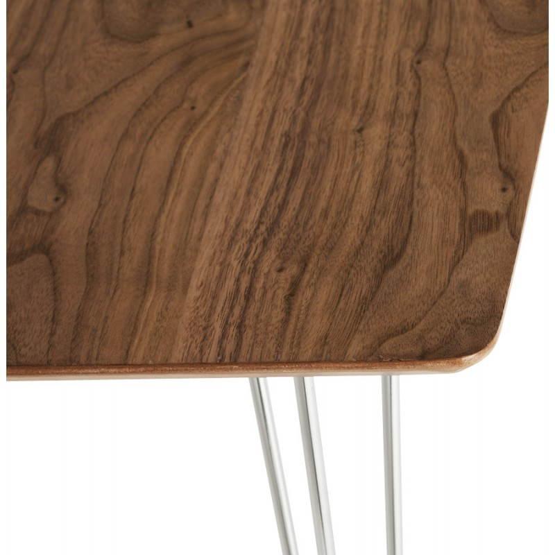Table design rectangulaire SOPHIE en bois (140cmX70cmX72cm) (noyer) - image 21472