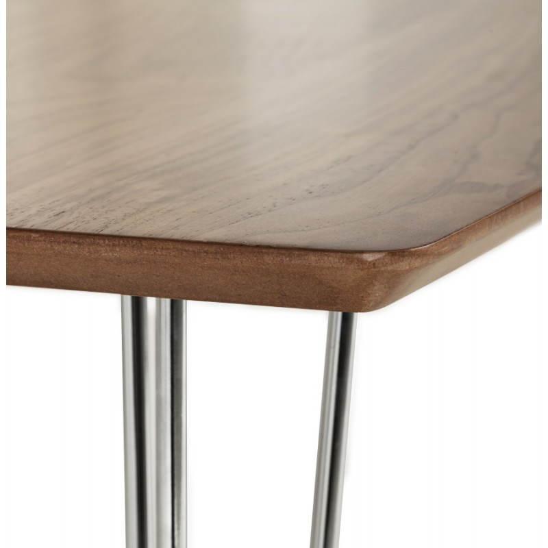 Table design rectangulaire SOPHIE en bois (140cmX70cmX72cm) (noyer) - image 21473