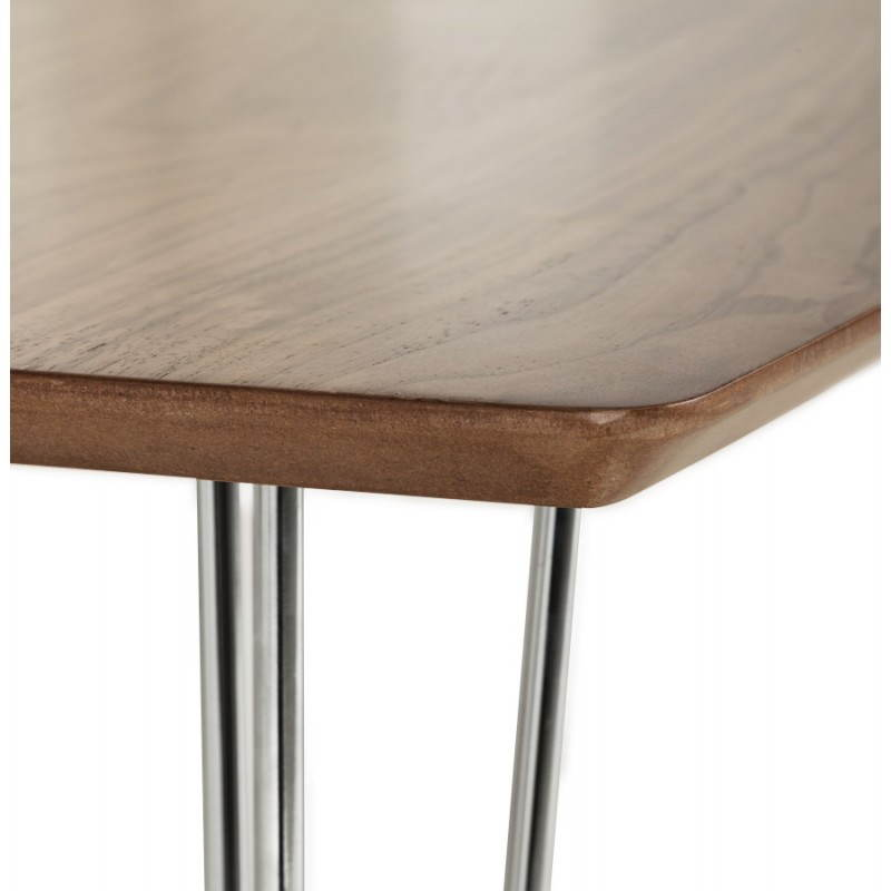Table design rectangulaire SOPHIE en bois (noyer) - image 21473
