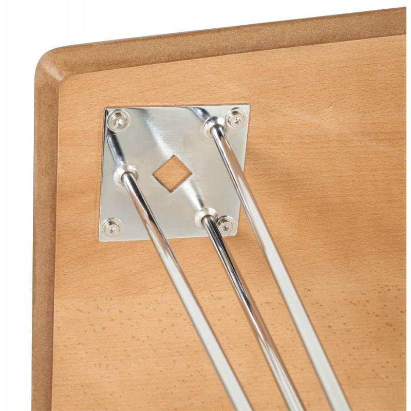 Table design rectangulaire SOPHIE en bois (140cmX70cmX72cm) (noyer) - image 21476