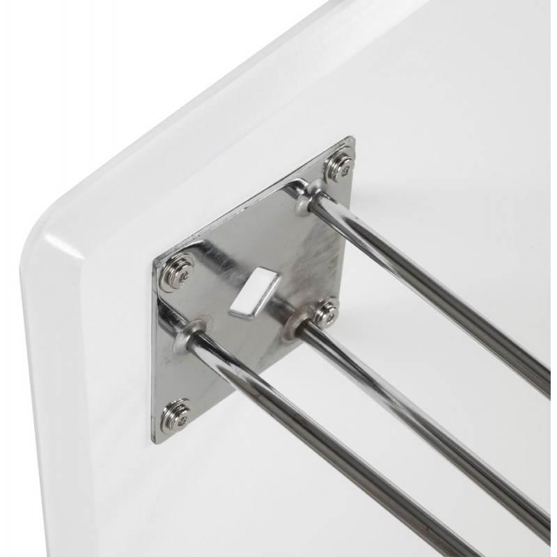 Table design rectangulaire SOPHIE en bois (140cmX70cmX72cm) (blanc) - image 21489