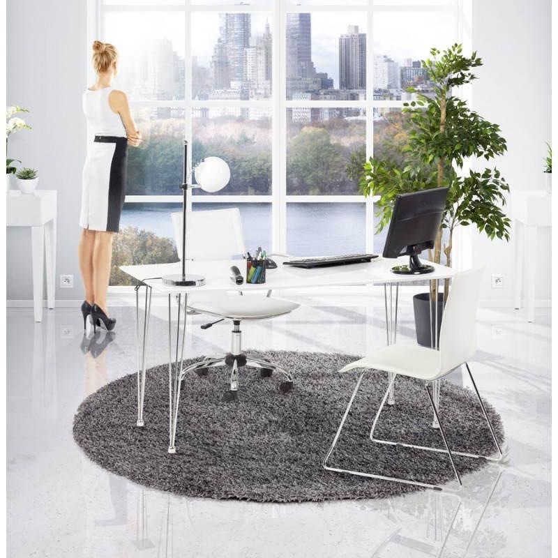 Table design rectangulaire SOPHIE en bois (140cmX70cmX72cm) (blanc) - image 21494