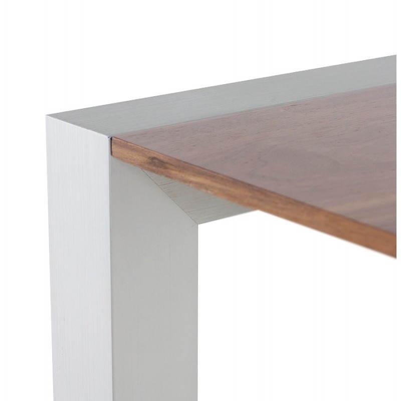 Table design avec rallonges LOURDE en plaqué noyer et aluminium brossé (170/260cmX90cmX74cm) (noyer) - image 21583