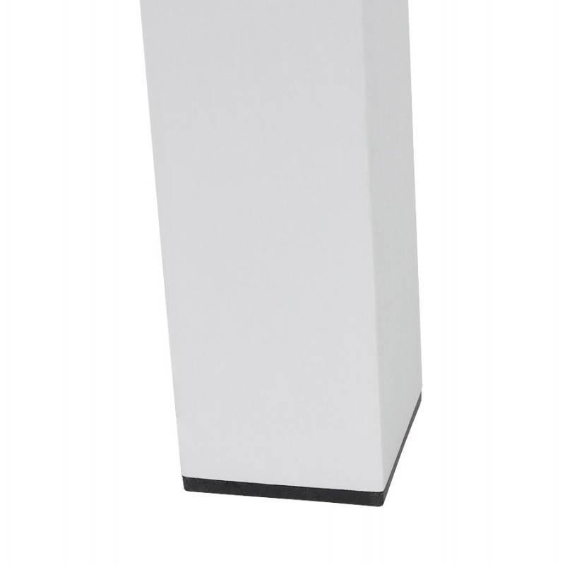 Table design avec rallonges LOURDE en plaqué noyer et aluminium brossé (170/260cmX90cmX74cm) (noyer) - image 21584