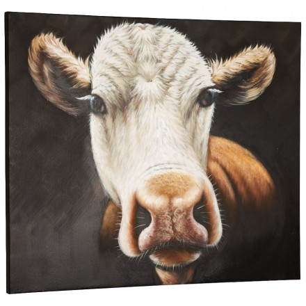 Decorative canvas cow