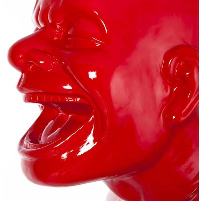 Statue forme groom VALET en fibre de verre (rouge laqué) - image 21664