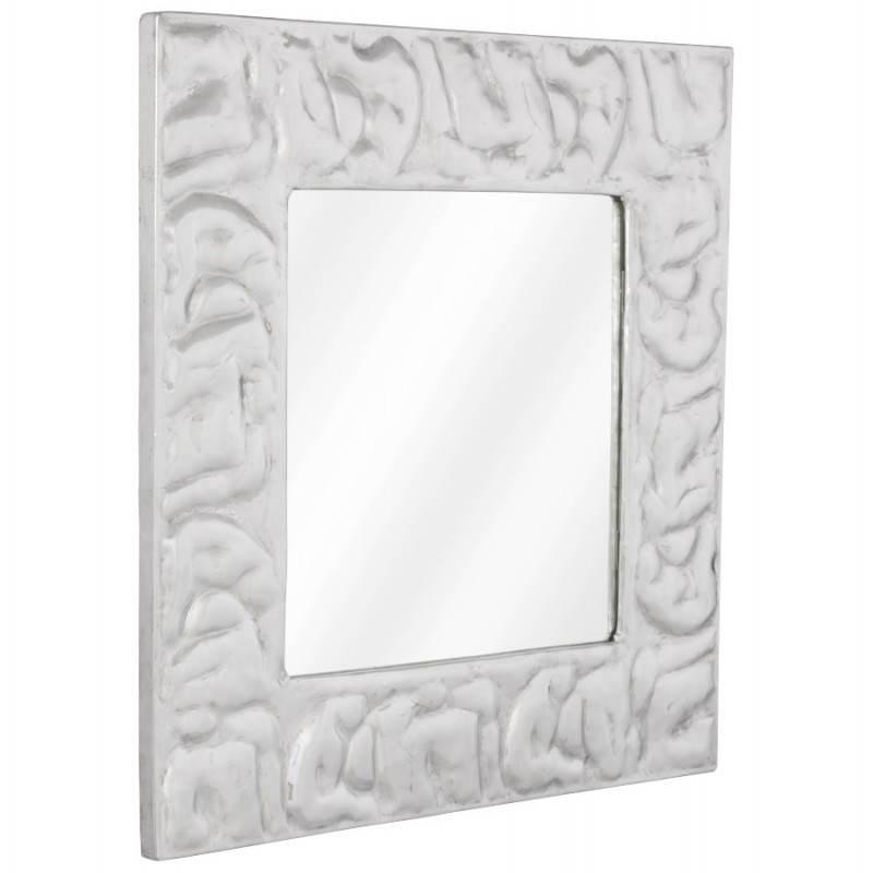 Square wall mirror BELLISSIMA aluminium