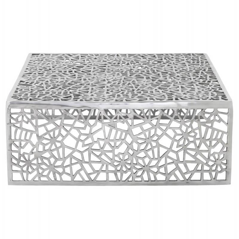 table basse de salon carr e lady en aluminium. Black Bedroom Furniture Sets. Home Design Ideas
