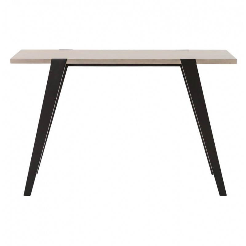 Table moderne rectangulaire VANOU en plaqué chêne (120cmX75,5cmX40cm) (naturel) - image 21791
