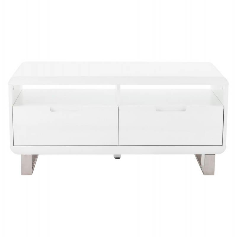 Meuble TV LIFOU en bois laqué (blanc) - image 21905
