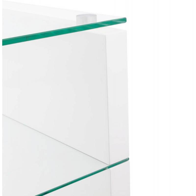 Muebles TV OUVÉA en madera lacada y de cristal (blanco) - image 21919
