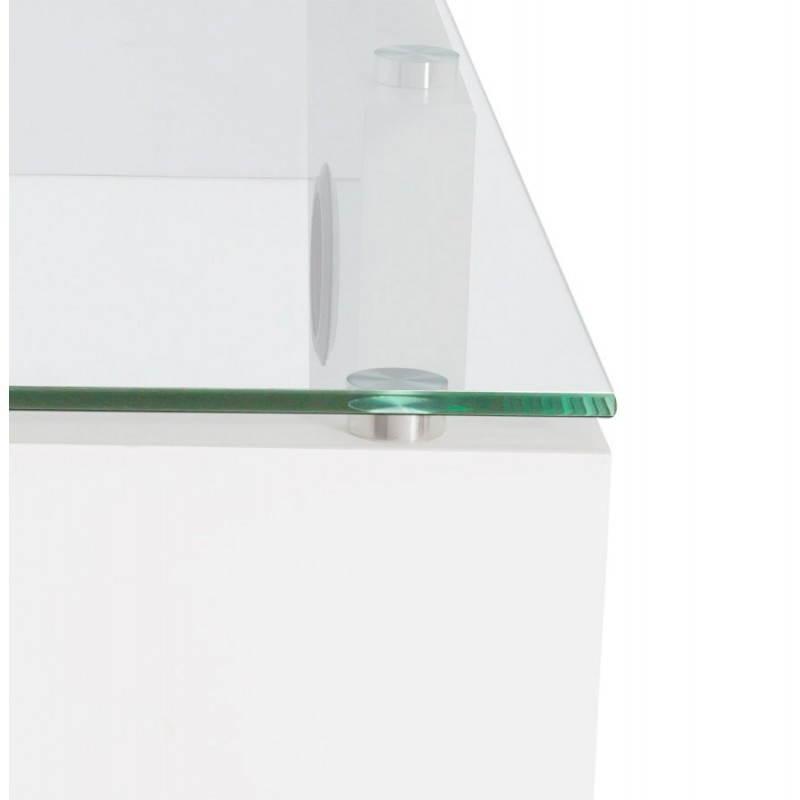 Muebles TV OUVÉA en madera lacada y de cristal (blanco) - image 21922