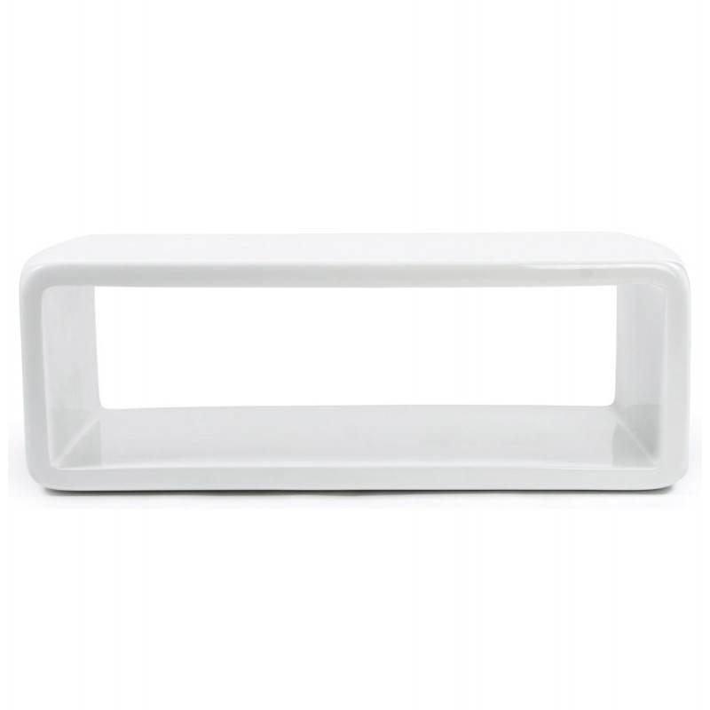 table basse rectangulaire glamour en fibre de verre blanc. Black Bedroom Furniture Sets. Home Design Ideas
