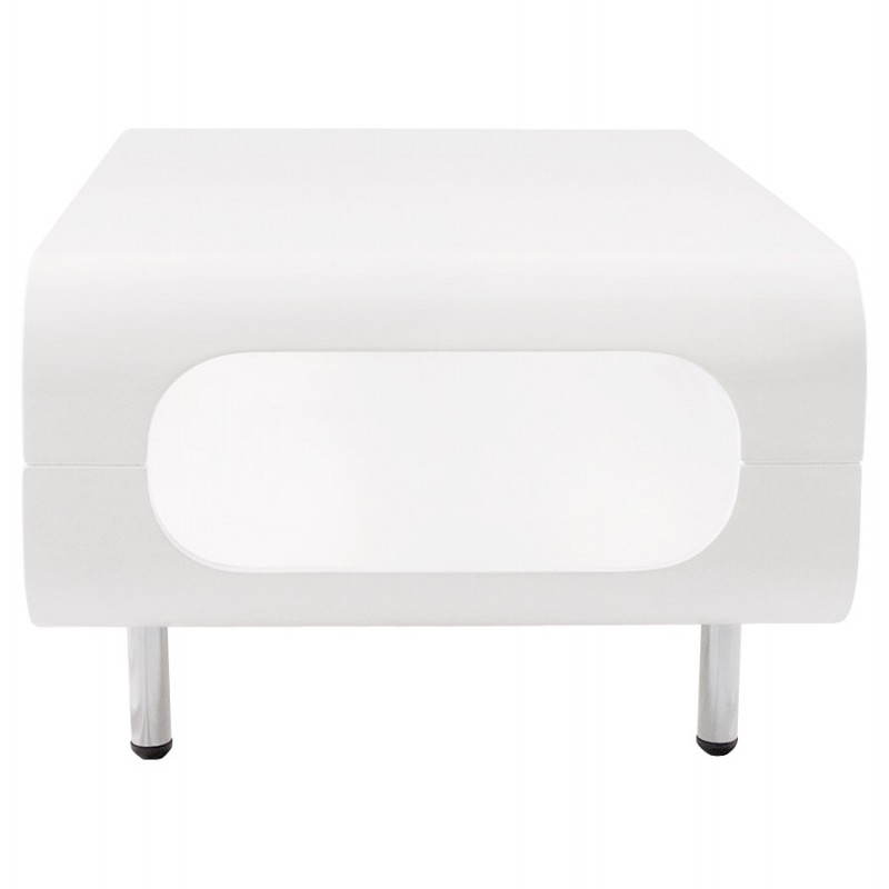 Table basse rectangulaire lomme en bois laqu blanc - Table basse rectangulaire blanc laque ...