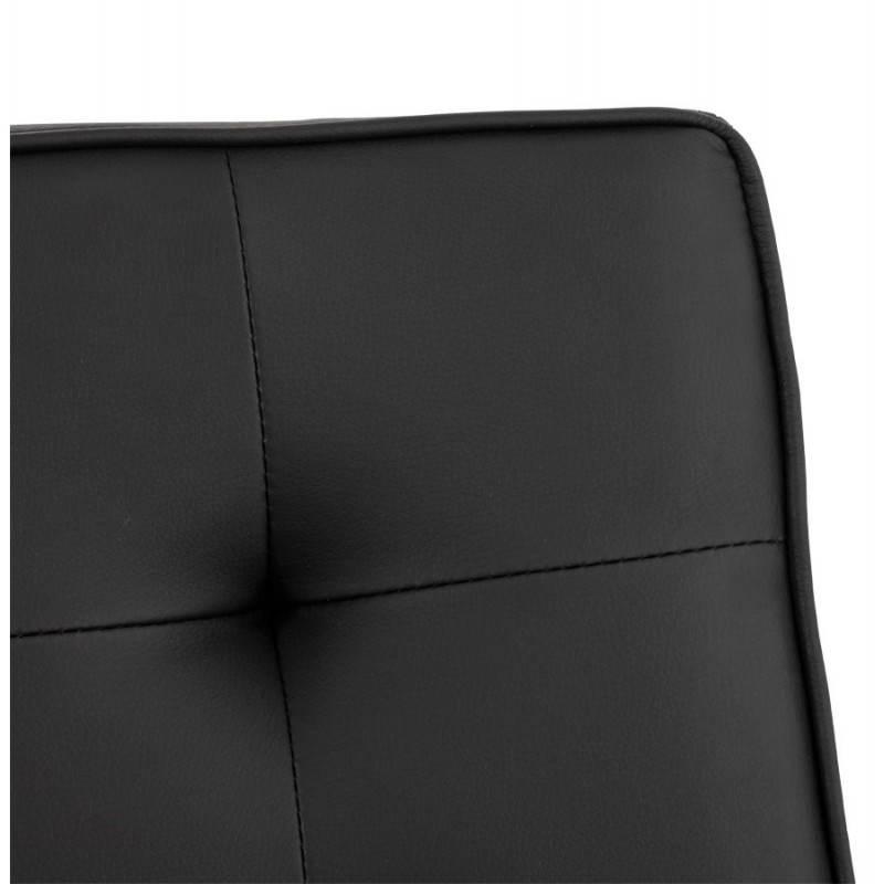 Chaise vintage capitonnée LINGO en polyuréthane et acier brossé (noir) - image 21986