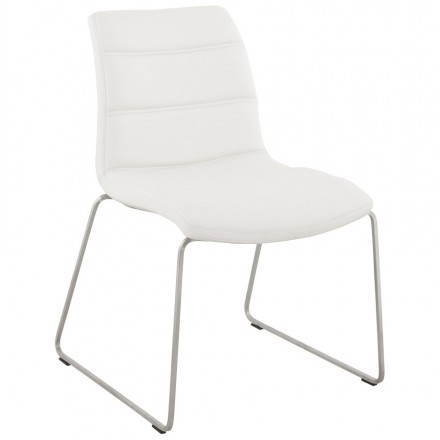 Chaise design et moderne rembourrée FRAISE (blanc)