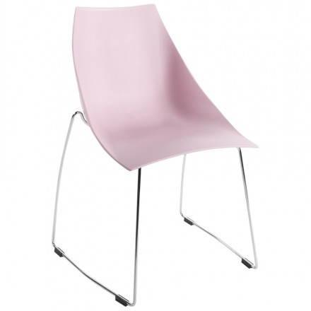 Chaise design et moderne RAME en polymère (rose)